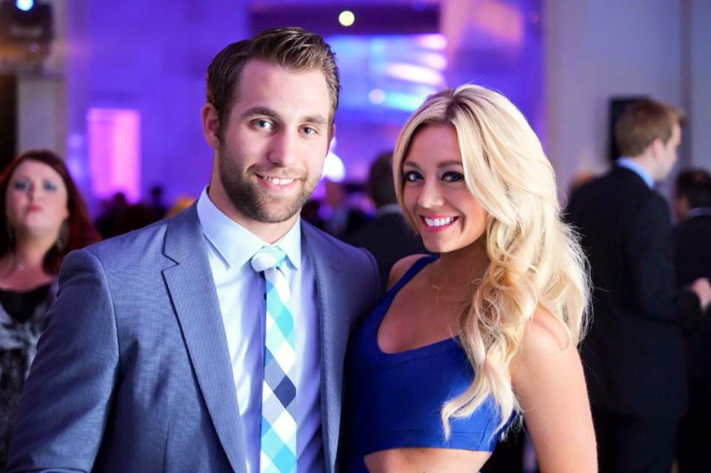 Carly Aplin and Jason Zucker